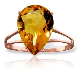 14K. SOLID GOLD RING WITH NATURAL CITRINE